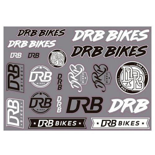Cartela de Adesivos DRB Bikes