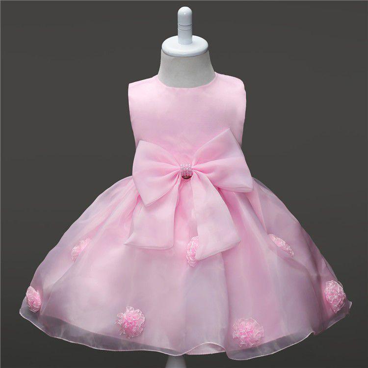 8ce6332f1f Vestido Festa Bebe Infantil Aniversário Casamento Batizado - Lazer e Estilo  ...