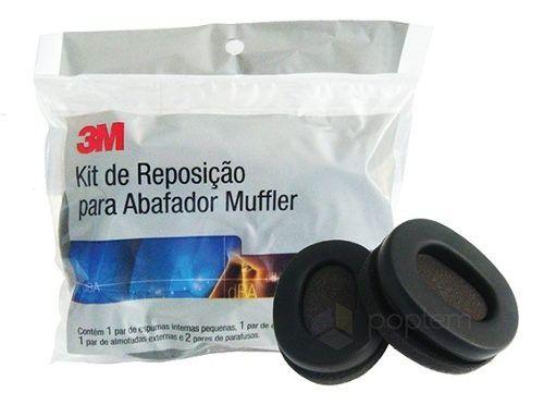 Kit Reposição Abafador Pomp Mufler 23DB – 3M