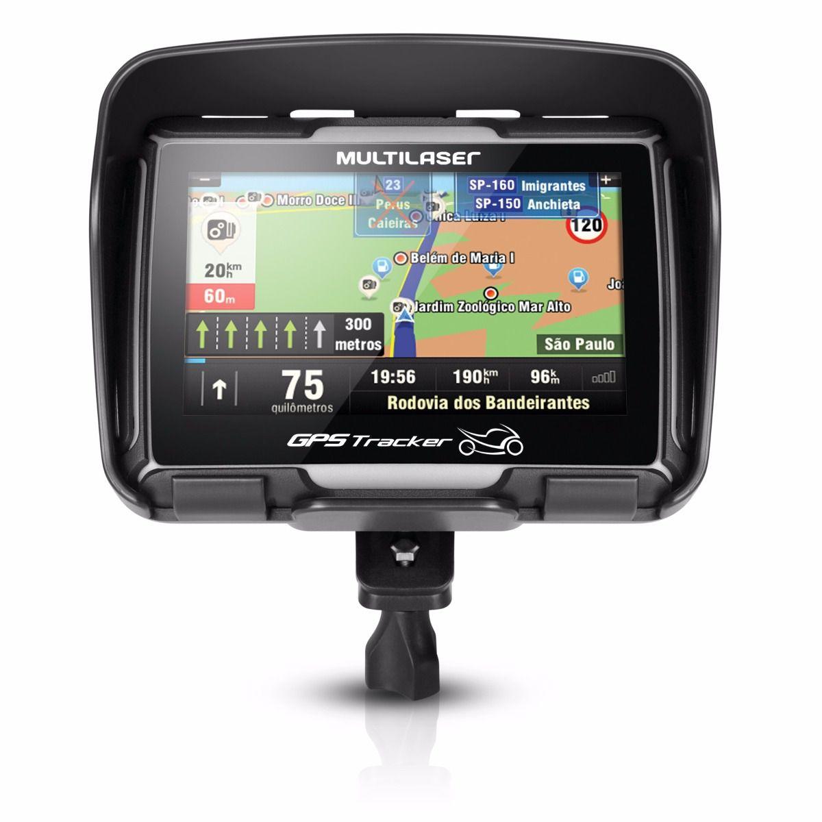 GPS para Moto à prova d'água com suporte Multilaser