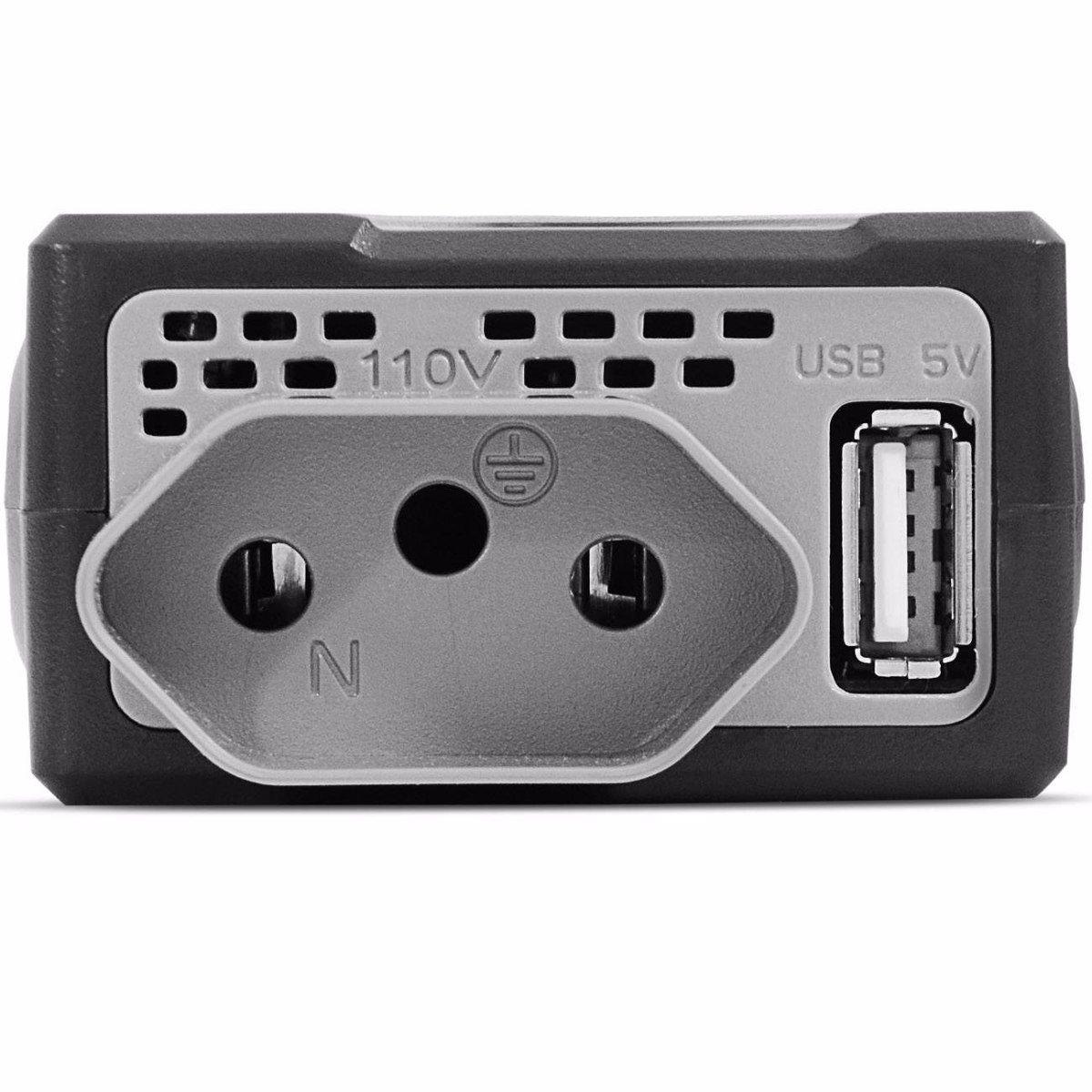 INVERSOR POTENCIA 12V PARA 220V 150W SAIDA USB 1A (05)