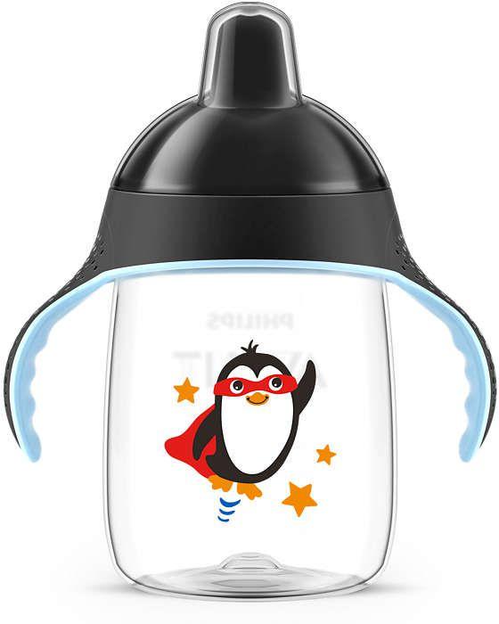 Kit Copo Pinguim 340mL + Mamadeira Pétala 330mL
