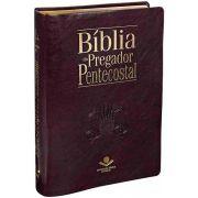 ARC085TIBPP - Bíblia do Pregador Pentecostal - Luxo com Índice - Vinho Nobre