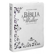 ARC087BMW - A Bíblia da Mulher - Grande - Branca Com Lilás