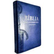 Bíblia Do Guerreiro - Letras Grandes - Azul