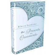 Bíblia Sagrada Presente de Casamento - Azul