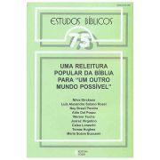 Estudos Bíblicos Vozes - Vol. 75 - Uma Releitura Popular da Bíblia...