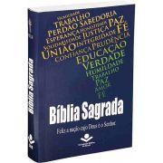 NTLH040LMFB - Bíblia Sagrada - Feliz a Nação Cujo Deus é o Senhor - Brochura - Mapa