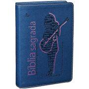 NTLH045BJ - Bíblia Sagrada - Edição Com Notas Para Jovens - Capa Azul - Feminina