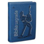 NTLH045BJ - Bíblia Sagrada - Edição Com Notas Para Jovens - Capa Azul - Masculina