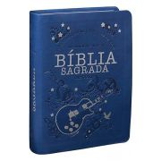 NTLH045LG - Bíblia Sagrada - Letra Grande - Azul Guitarra