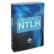 NTLH060E - Bíblia de Estudo NTLH - Brochura - Azul