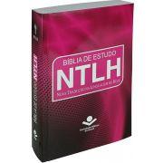 NTLH060E - Bíblia de Estudo NTLH - Brochura - Pink