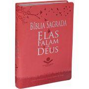NTLH065EFD - Bíblia Sagrada - NTLH - Elas Falam de Deus - Pessego Alpha