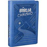 NTLH065PJK - Biblia Caminho - Azul