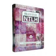 NTLH087E - Bíblia de Estudo NTLH - Grande - Feminina Arte