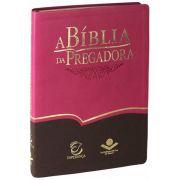 RA085BPRAEEE - A Bíblia da Pregadora - Luxo - Grande - Pink e Marrom