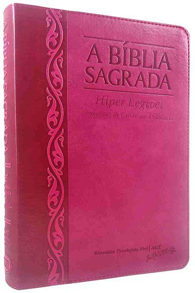 4409 - A Bíblia Sagrada - Hiper Legível - Letra Gigante - Morango e Cereja