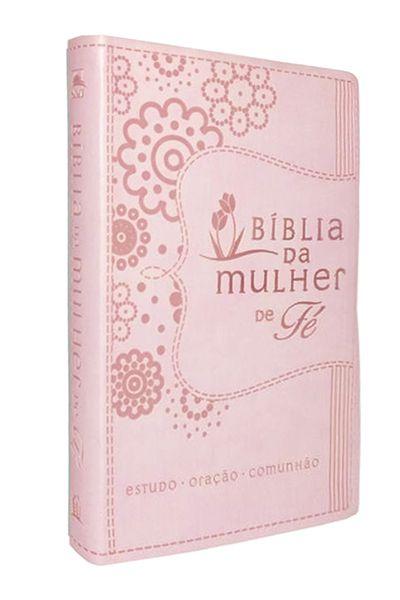 A Bíblia da Mulher de Fé - NVI - Rosa