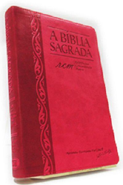 A Bíblia Sagrada - RCM - Letra Grande - Índice - Morango e Cereja