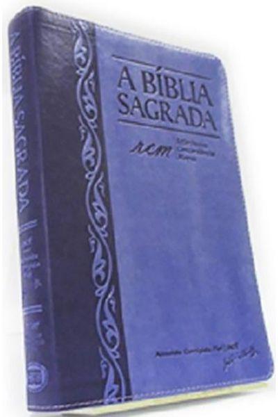 A Bíblia Sagrada - RCM - Letra Grande - Índice - Uva e Lilás