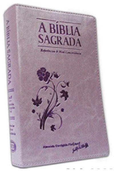 A Bíblia Sagrada - REMC Referências e Mini Concordância - Arabesco Lilas