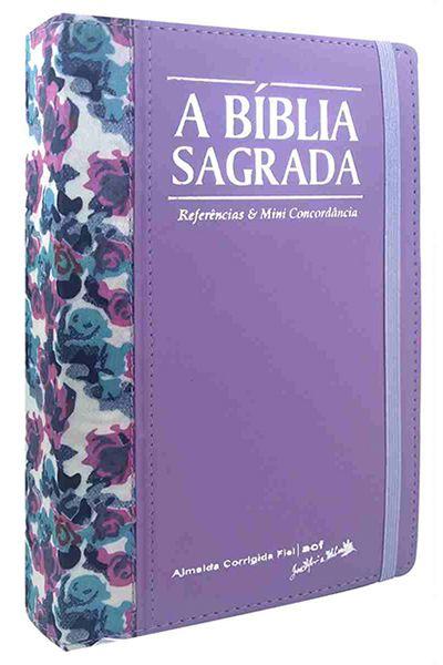 A Bíblia Sagrada - REMC - Referências e Mini Concordância - Capa Florida Lilás