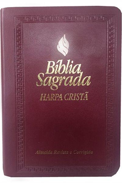 ARC045HLMFB - Bíblia Sagrada - Harpa Cristã - Pequena - Vinho