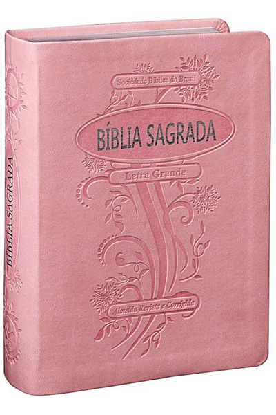 ARC045LG - Bíblia Sagrada ARC Com Letra Grande - Rosa Claro