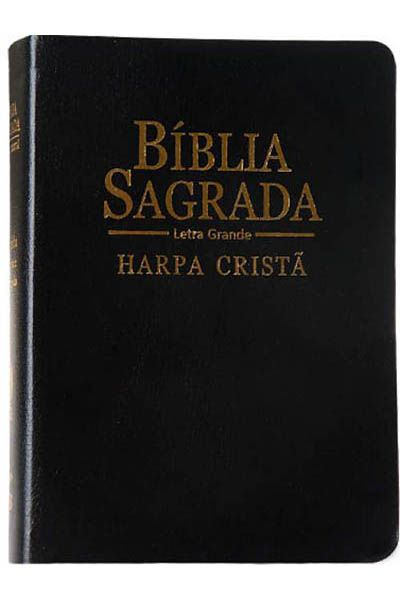 ARC047HLG - Bíblia Sagrada com Harpa Cristã - Letra Grande - Média - Preta