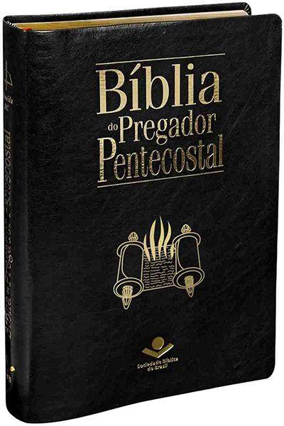 ARC087TIBPP - Bíblia do Pregador Pentecostal - Luxo com Índice - Preta