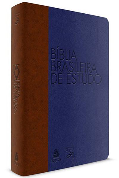 Bíblia Brasileira de Estudo - Marrom e Azul