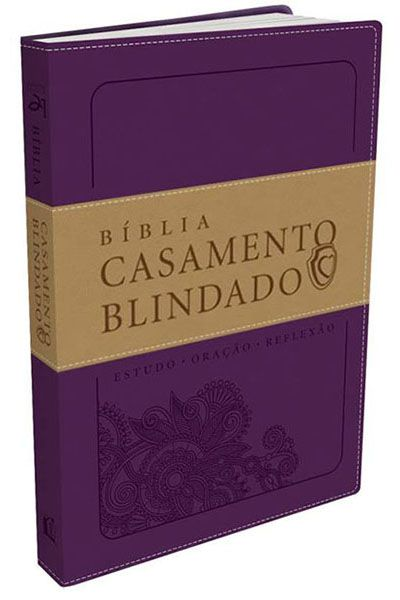 Bíblia Casamento Blindado - Roxa