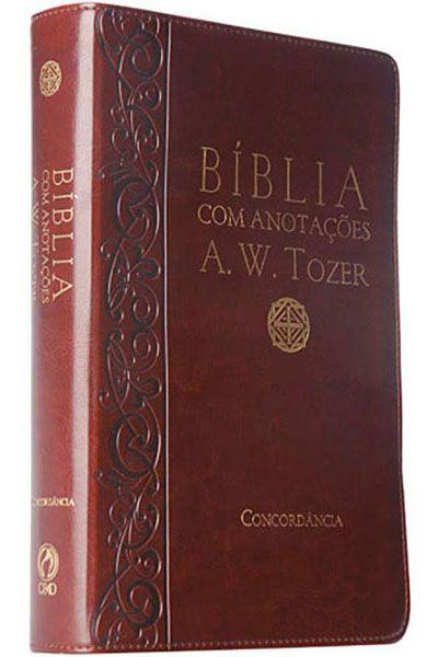 Bíblia com Anotações A. W. Tozer - Média - Luxo - Vinho