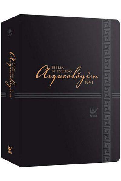 Bíblia de Estudo Arqueológica NVI - Luxo - Preta