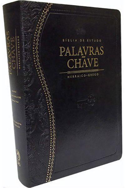 Bíblia de Estudo Palavras-Chave - Luxo Preta (Clássica)