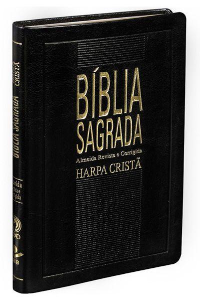 Bíblia Sagrada Com Harpa Cristã - Slim Preta