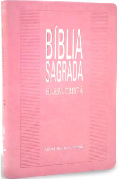 Bíblia Sagrada Com Harpa Cristã - Slim Rosa
