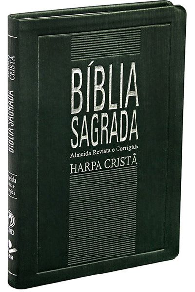 Bíblia Sagrada Com Harpa Cristã - Slim Verde Escuro