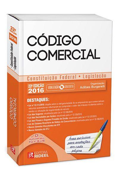 Código Comercial - 22ª Edição 2016