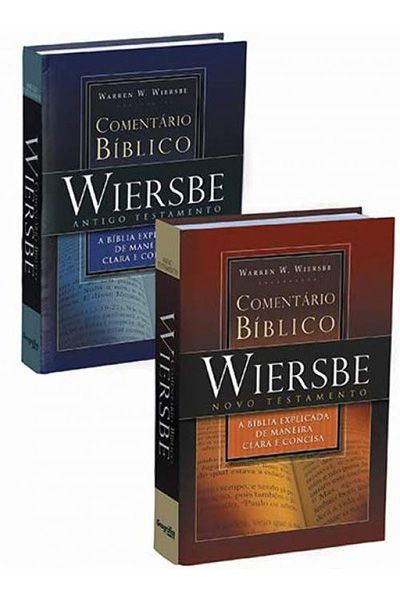 Comentário Bíblico Warren W. Wiersbe - 2 Volumes - Capa Dura