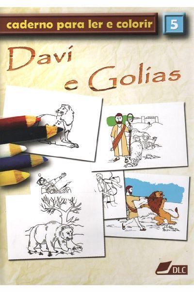 Davi e Golias - Caderno Para Ler e Colorir - vol 5