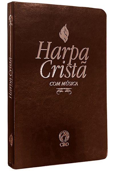 Harpa Cristã com Música - Grande - Marrom