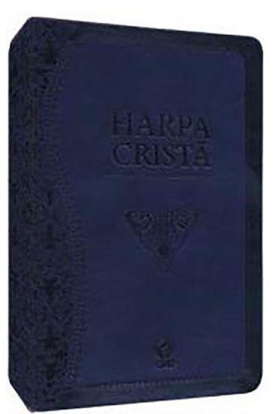 Harpa Cristã - Grande - Luxo PU - Azul
