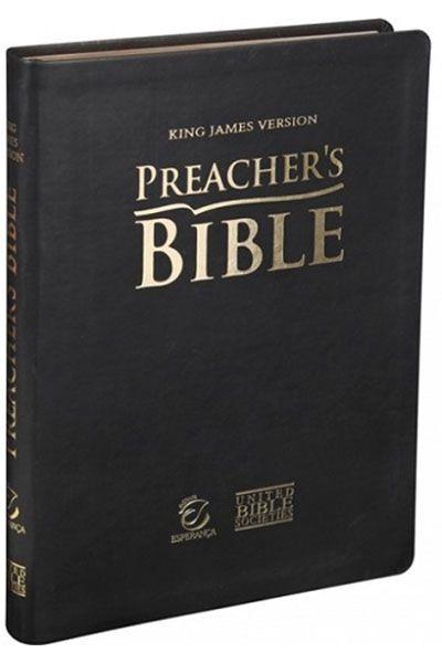 KJV085PB - Preacher's Bible: Bíblia do Pregador - Luxo - Preta