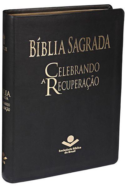 NTLH065BCR - Bíblia Sagrada Celebrando a Recuperação - Preta