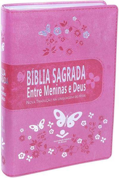 NTLH065BMD - Bíblia Sagrada Entre Meninas e Deus - Rosa