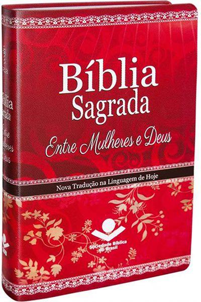 NTLH065BMUD - Bíblia Sagrada Entre Mulheres e Deus - Vermelha