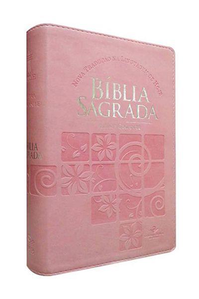 NTLH065TILGI - Bíblia Sagrada - Letra Gigante e Índice - Rosa Claro