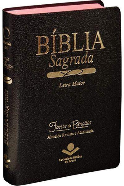RA045LMFB - Bíblia Sagrada - Fonte de Bençãos - Luxo - Preta